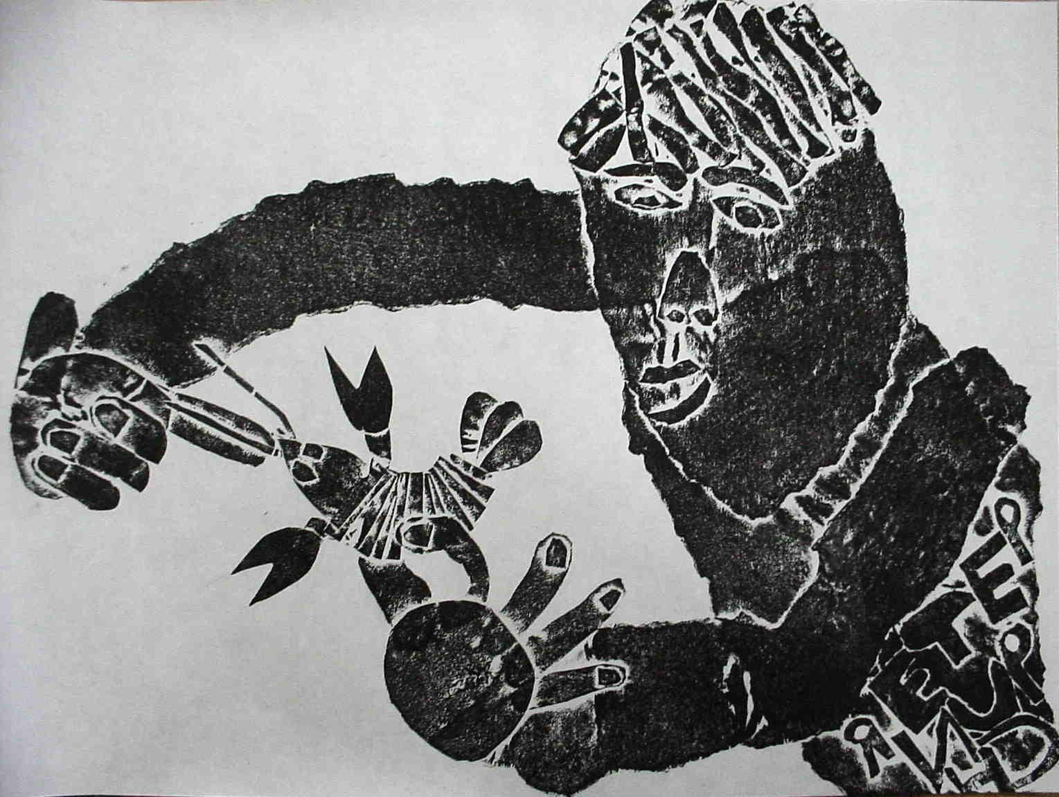 2年生紙版画「ザリガニとあそ ... : 福笑いの顔 : すべての講義